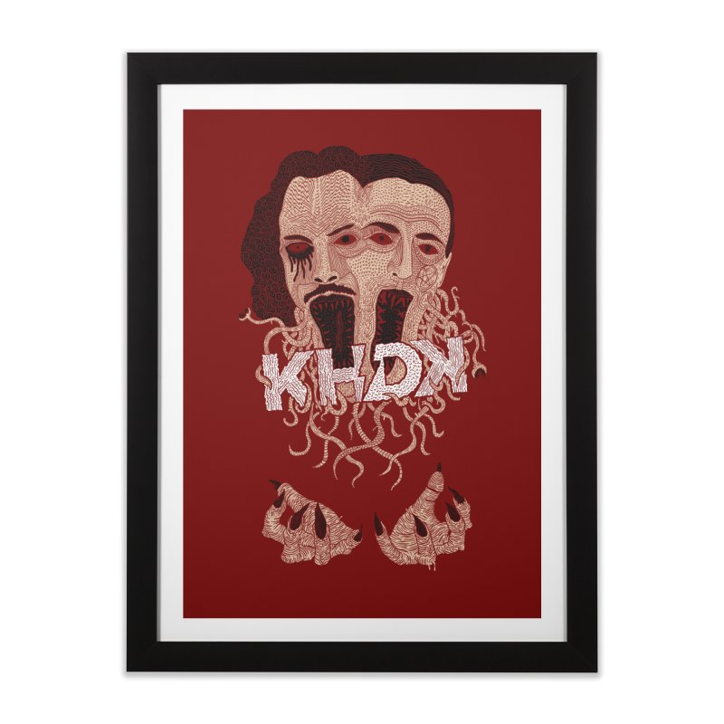KHDK Kirk & David Wall Art 1 in Framed Fine Art Print Black by KHDK