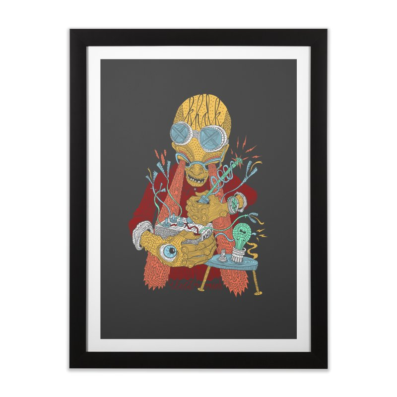 KHDK Tony & The Circuits Wall Art in Framed Fine Art Print Black by KHDK