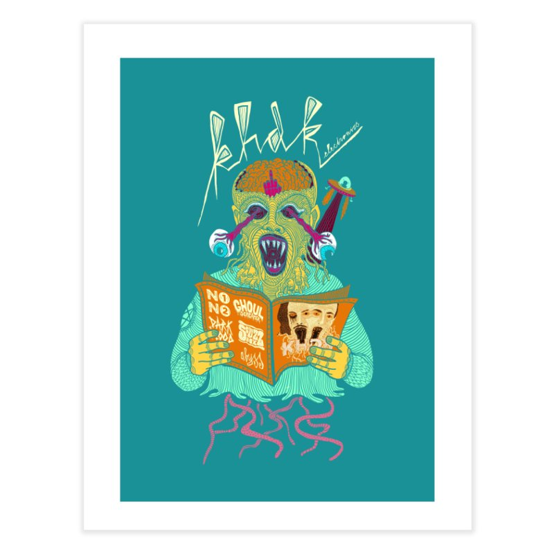 KHDK Alien Wall Art Home Fine Art Print by KHDK
