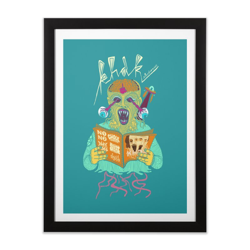 KHDK Alien Wall Art in Framed Fine Art Print Black by KHDK