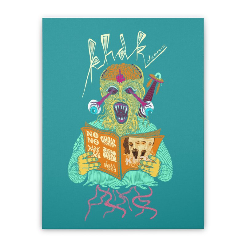 KHDK Alien Wall Art Home Stretched Canvas by KHDK