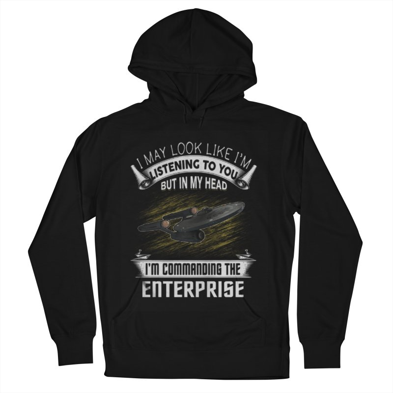 Commanding the Enterprise Men's Pullover Hoody by khurst's Artist Shop