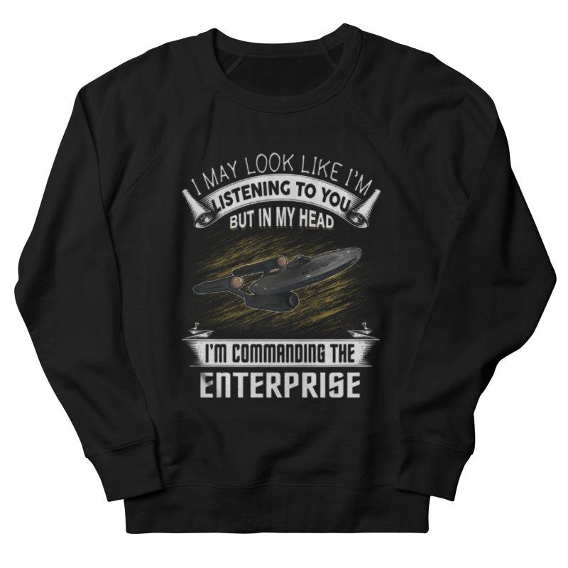 Commanding the Enterprise Men's Sweatshirt by khurst's Artist Shop