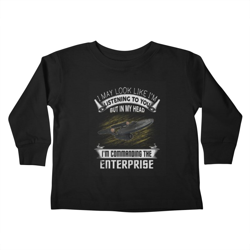 Commanding the Enterprise Kids Toddler Longsleeve T-Shirt by khurst's Artist Shop