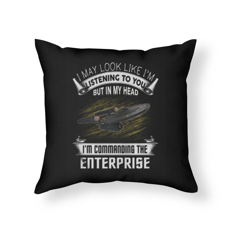 Commanding the Enterprise Home Throw Pillow by khurst's Artist Shop