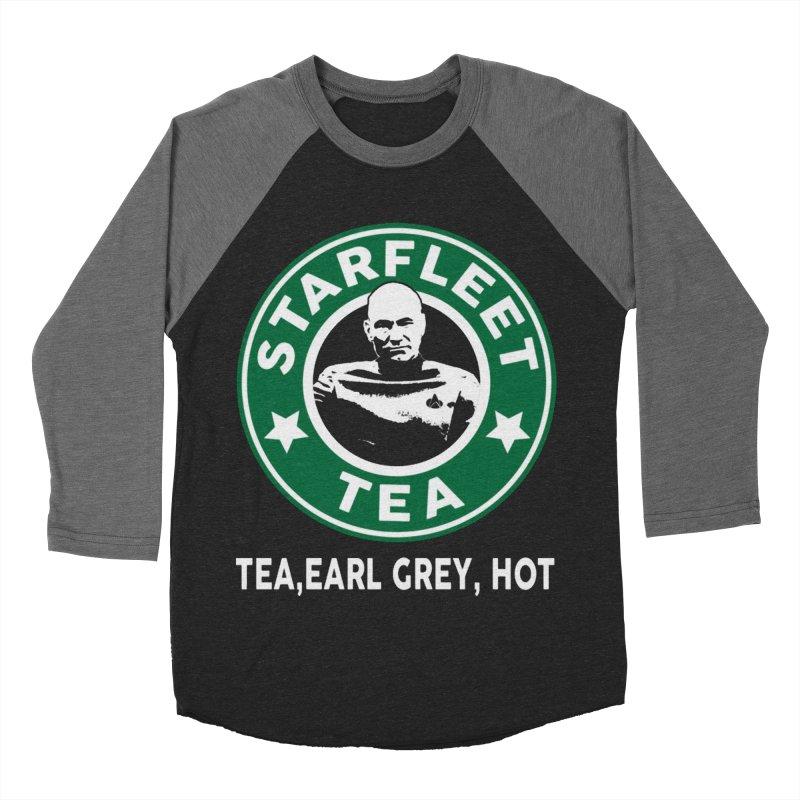 Picard's Starfleet Tea Men's Baseball Triblend T-Shirt by khurst's Artist Shop