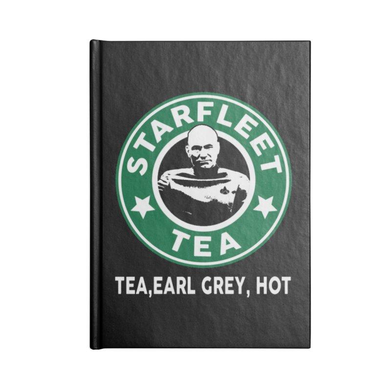Picard's Starfleet Tea Accessories Notebook by khurst's Artist Shop