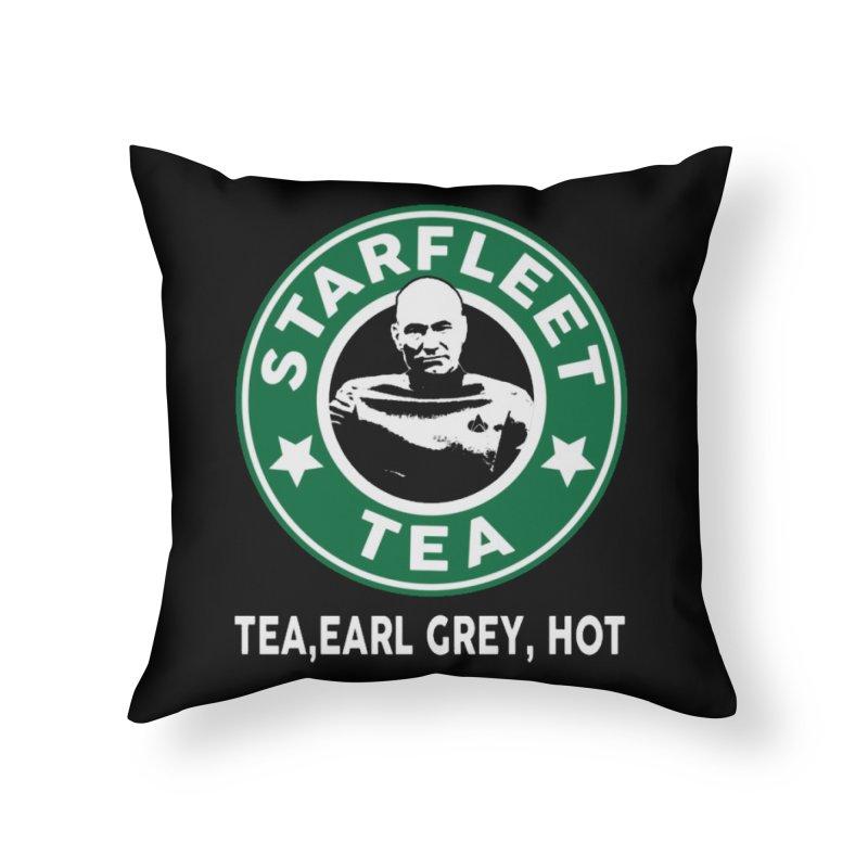 Picard's Starfleet Tea Home Throw Pillow by khurst's Artist Shop