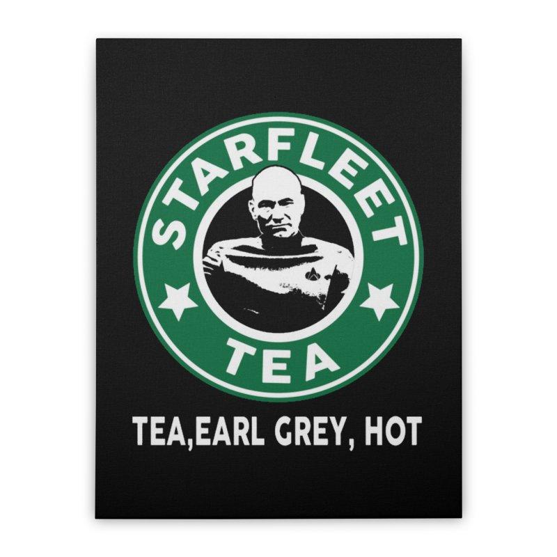 Picard's Starfleet Tea Home Stretched Canvas by khurst's Artist Shop