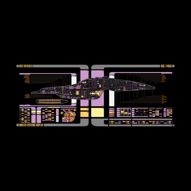 Star Trek Voyager Master Systems Display None  by khurst's Artist Shop