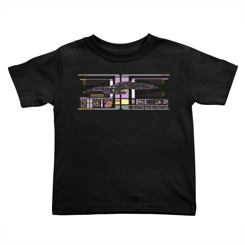 Star Trek Voyager Master Systems Display Kids Toddler T-Shirt by khurst's Artist Shop