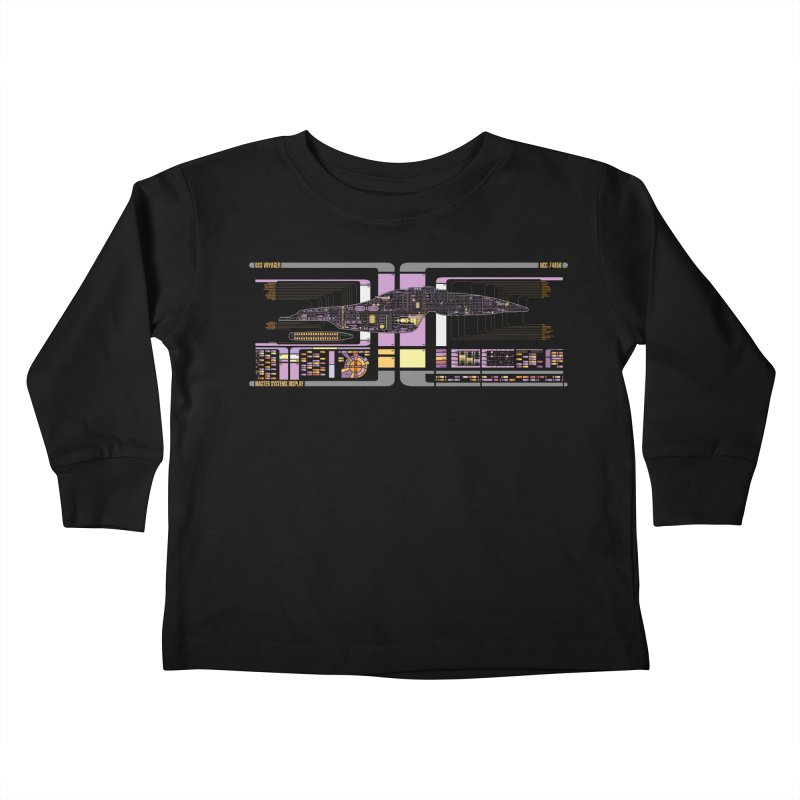 Star Trek Voyager Master Systems Display Kids Toddler Longsleeve T-Shirt by khurst's Artist Shop