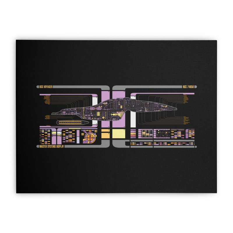Star Trek Voyager Master Systems Display Home Stretched Canvas by khurst's Artist Shop