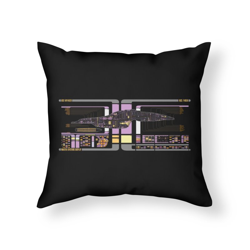 Star Trek Voyager Master Systems Display Home Throw Pillow by khurst's Artist Shop