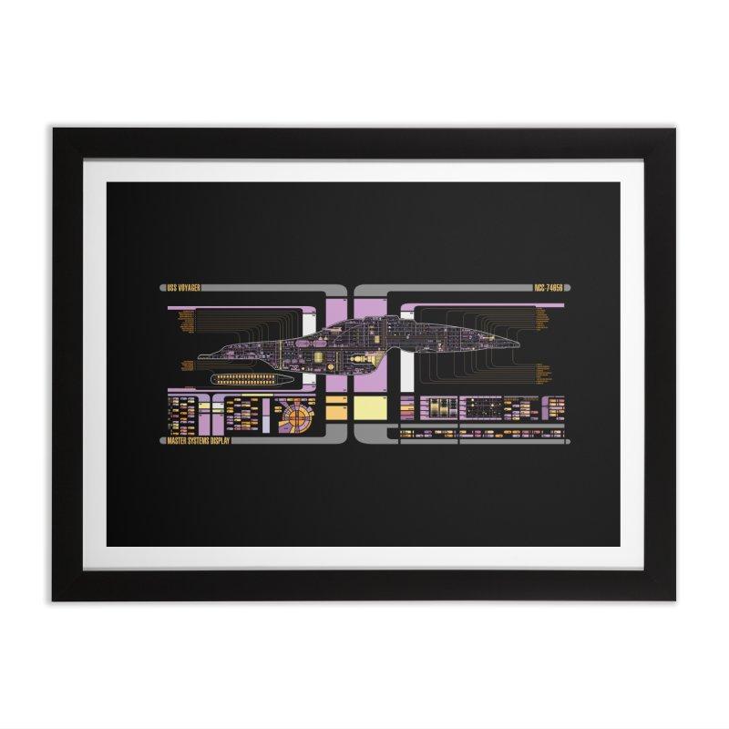 Star Trek Voyager Master Systems Display Home Framed Fine Art Print by khurst's Artist Shop