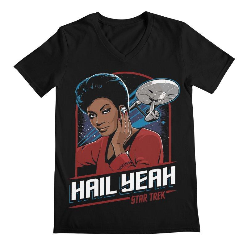 Hail Yeah - Nyota Uhura Men's V-Neck by khurst's Artist Shop