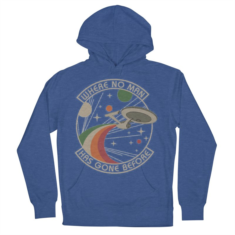 Where No Man Has Gone Before Men's Pullover Hoody by khurst's Artist Shop