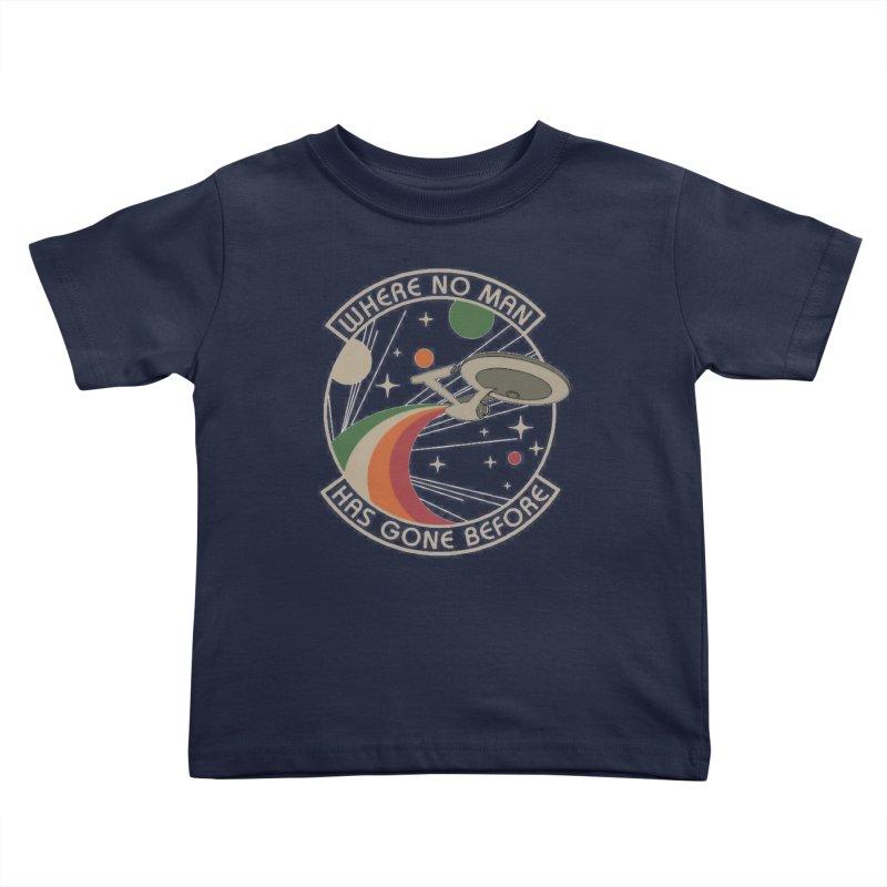 Where No Man Has Gone Before Kids Toddler T-Shirt by khurst's Artist Shop