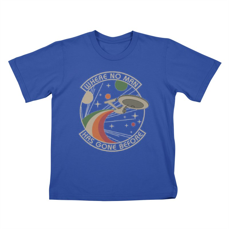 Where No Man Has Gone Before Kids T-shirt by khurst's Artist Shop