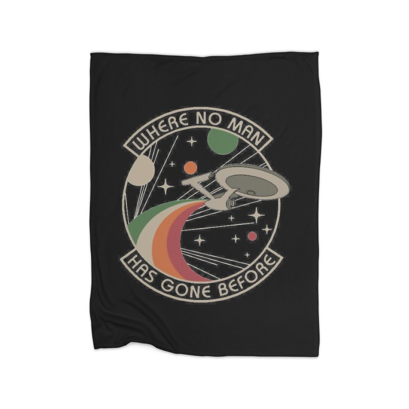 Where No Man Has Gone Before Home Blanket by khurst's Artist Shop