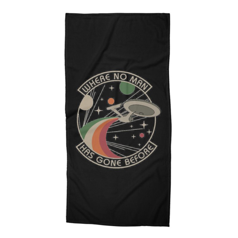 Where No Man Has Gone Before Accessories Beach Towel by khurst's Artist Shop