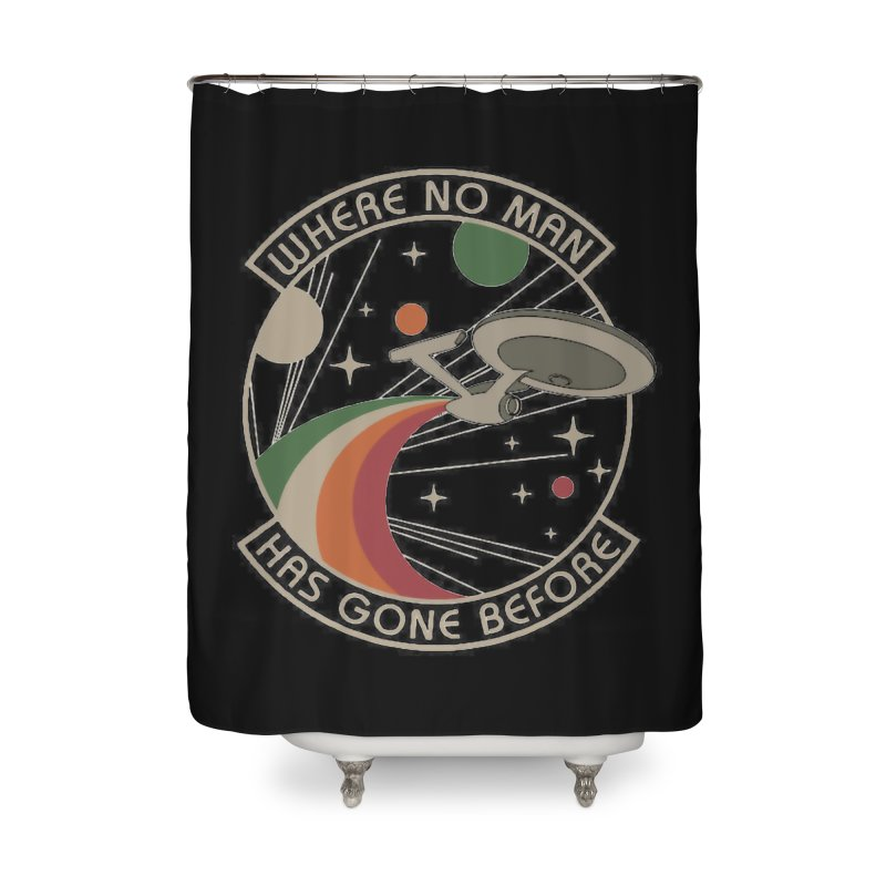 Where No Man Has Gone Before Home Shower Curtain by khurst's Artist Shop