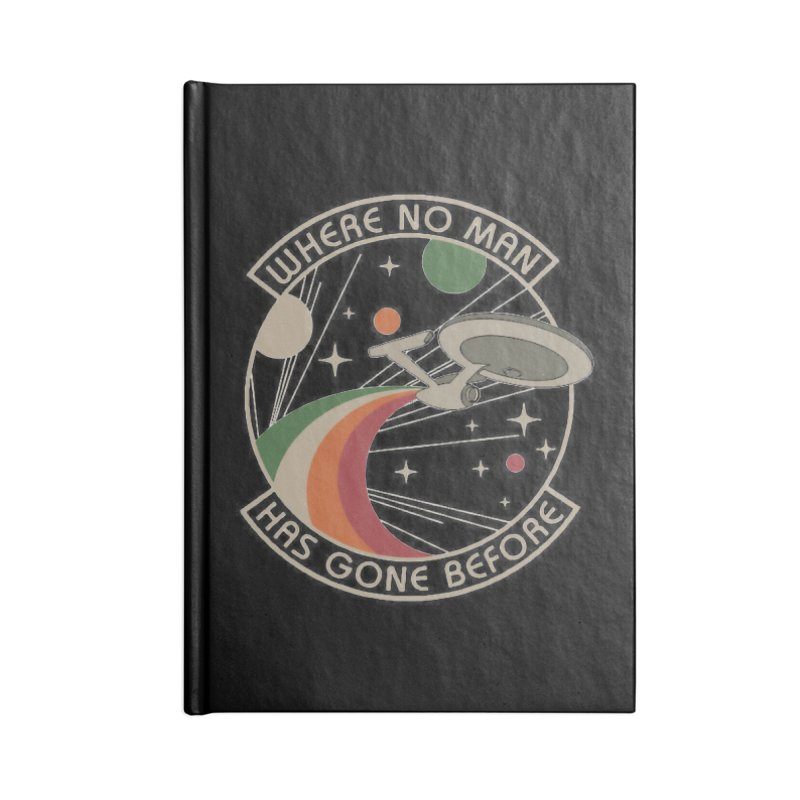 Where No Man Has Gone Before Accessories Notebook by khurst's Artist Shop