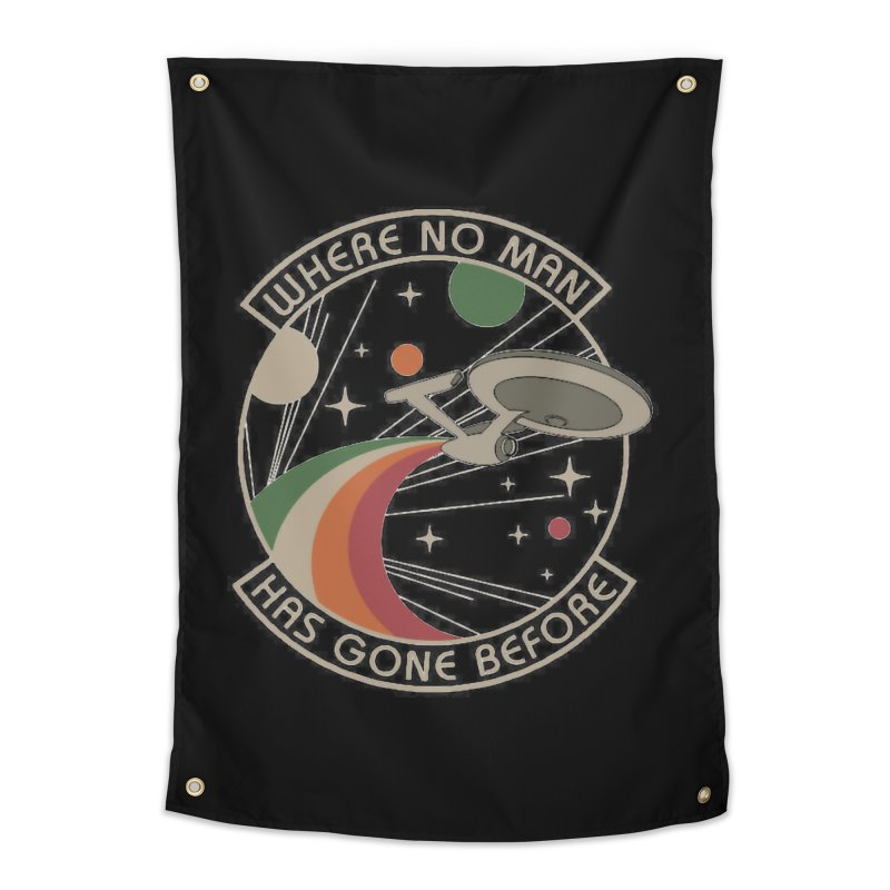 Where No Man Has Gone Before Home Tapestry by khurst's Artist Shop