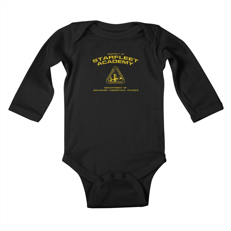 Starfleet Academy - Department of Advanced Theoretical Physics Kids Baby Longsleeve Bodysuit by khurst's Artist Shop