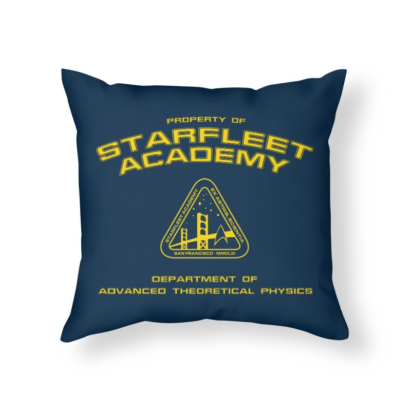 Starfleet Academy - Department of Advanced Theoretical Physics Home Throw Pillow by khurst's Artist Shop