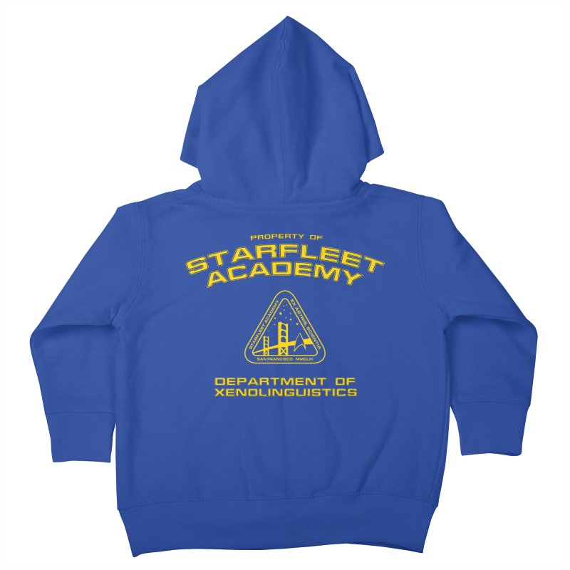 Starfleet Academy - Department of Xenolinguistics Kids Toddler Zip-Up Hoody by khurst's Artist Shop