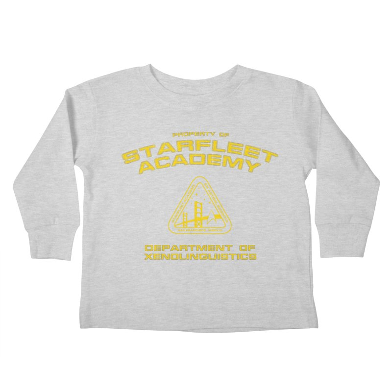 Starfleet Academy - Department of Xenolinguistics Kids Toddler Longsleeve T-Shirt by khurst's Artist Shop