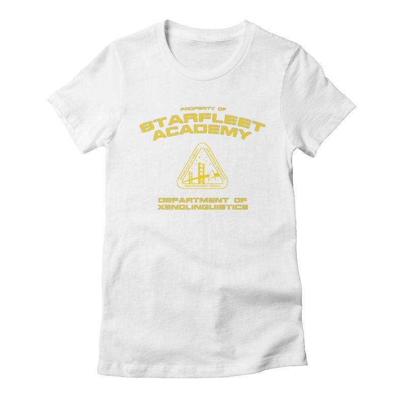 Starfleet Academy - Department of Xenolinguistics Women's Fitted T-Shirt by khurst's Artist Shop