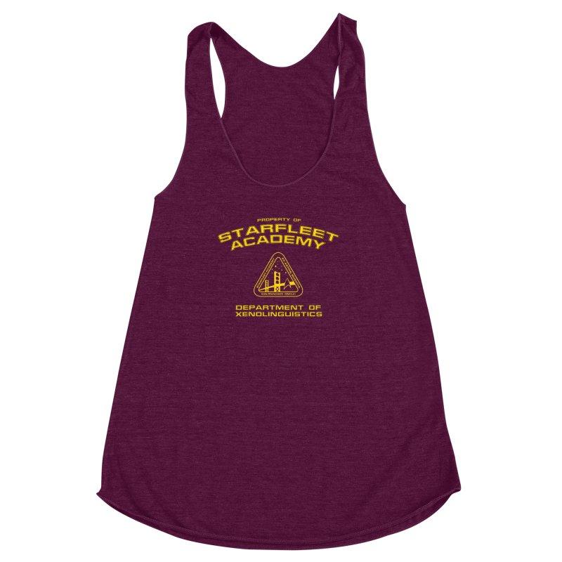 Starfleet Academy - Department of Xenolinguistics Women's Racerback Triblend Tank by khurst's Artist Shop