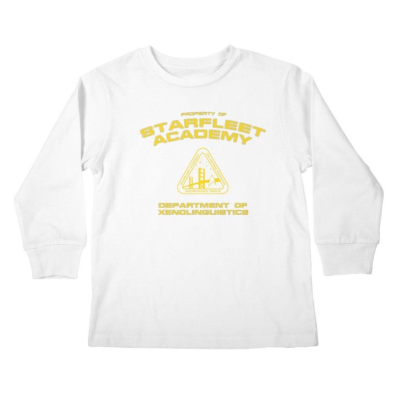 Starfleet Academy - Department of Xenolinguistics Kids Longsleeve T-Shirt by khurst's Artist Shop