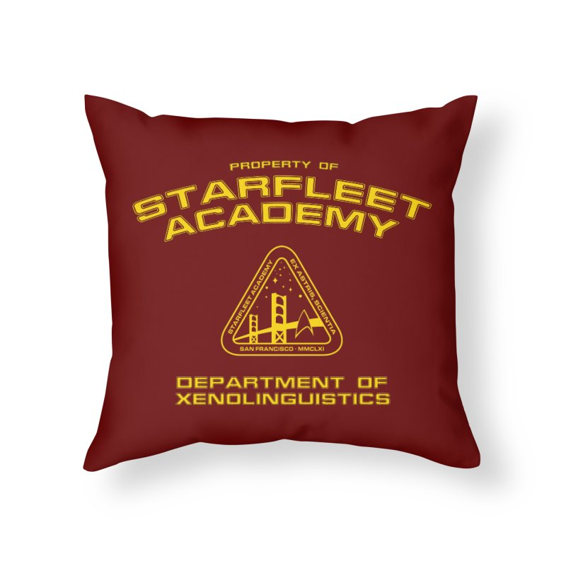 Starfleet Academy - Department of Xenolinguistics Home Throw Pillow by khurst's Artist Shop