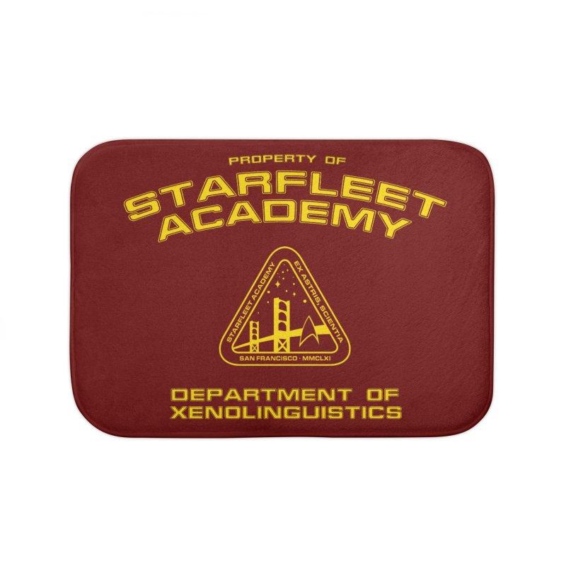 Starfleet Academy - Department of Xenolinguistics Home Bath Mat by khurst's Artist Shop