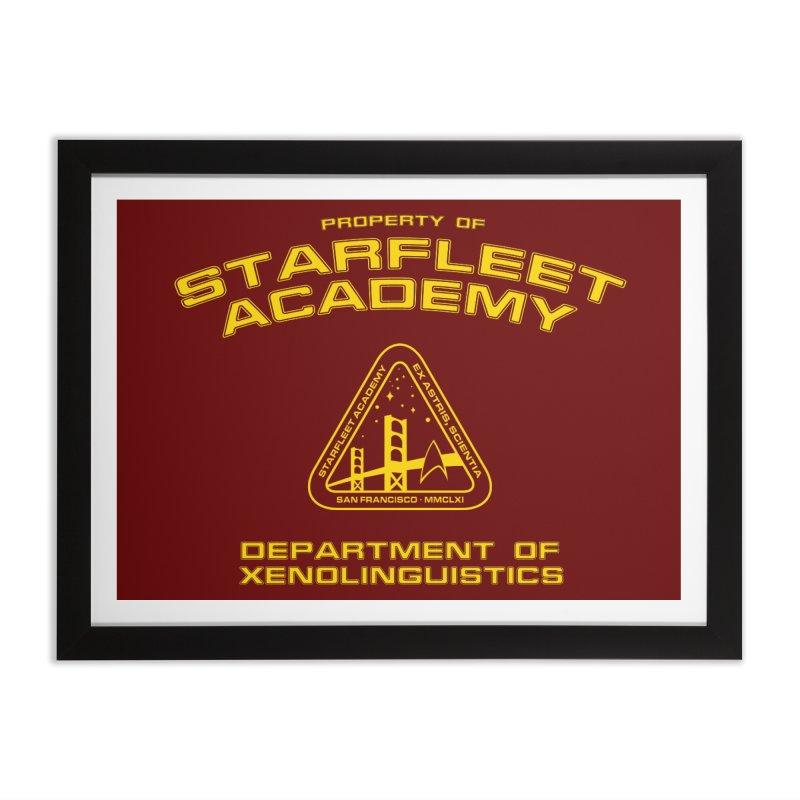 Starfleet Academy - Department of Xenolinguistics Home Framed Fine Art Print by khurst's Artist Shop