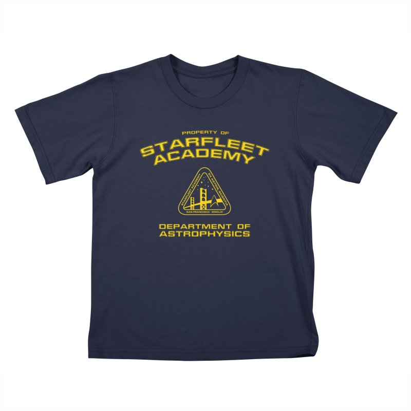 Starfleet Academy - Department of Astrophysics Kids T-Shirt by To Boldly Merch