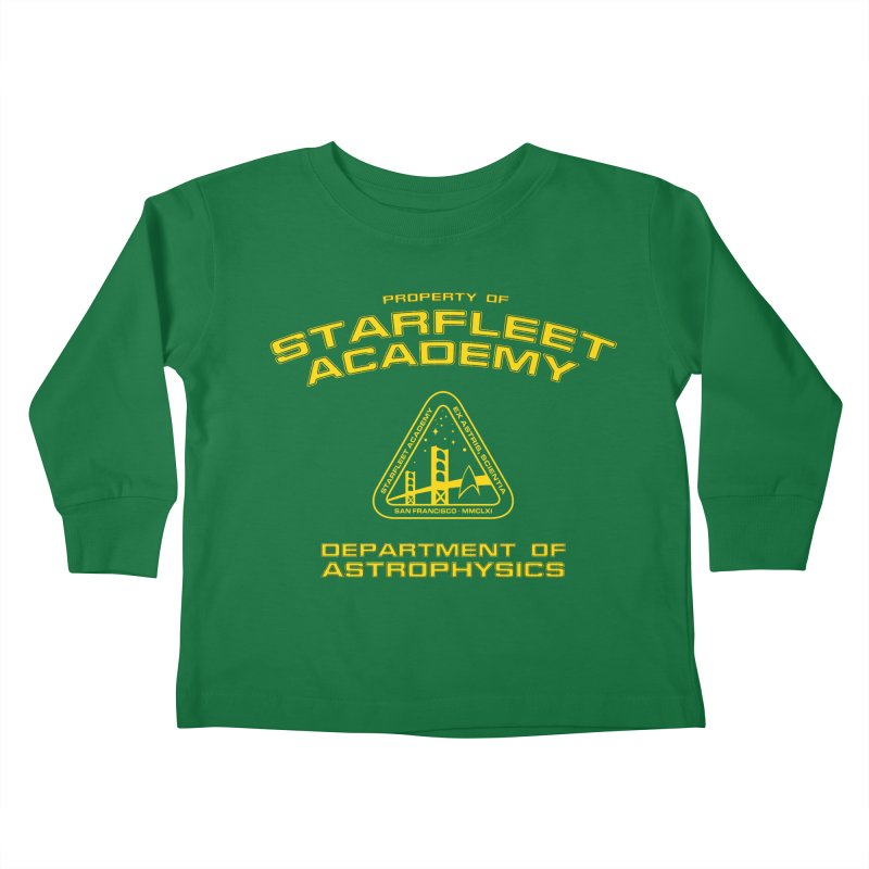 Starfleet Academy - Department of Astrophysics Kids Toddler Longsleeve T-Shirt by khurst's Artist Shop