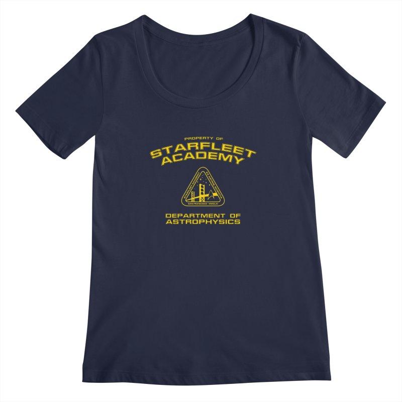 Starfleet Academy - Department of Astrophysics Women's Scoopneck by khurst's Artist Shop