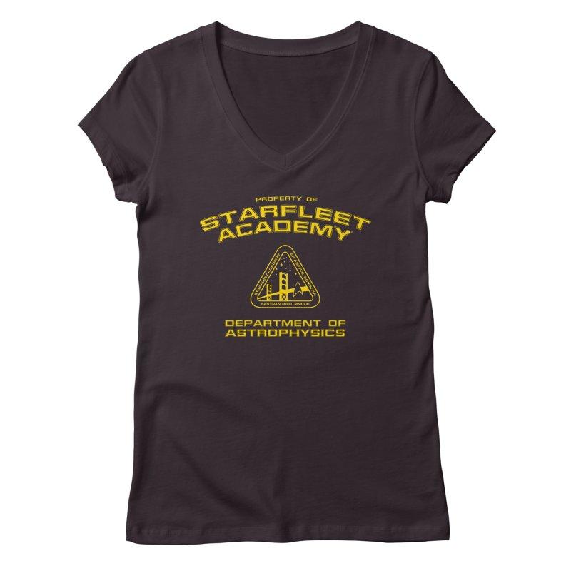 Starfleet Academy - Department of Astrophysics Women's V-Neck by khurst's Artist Shop