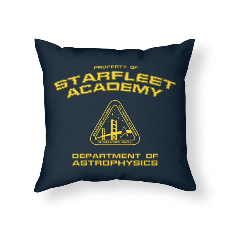 Starfleet Academy - Department of Astrophysics Home Throw Pillow by khurst's Artist Shop