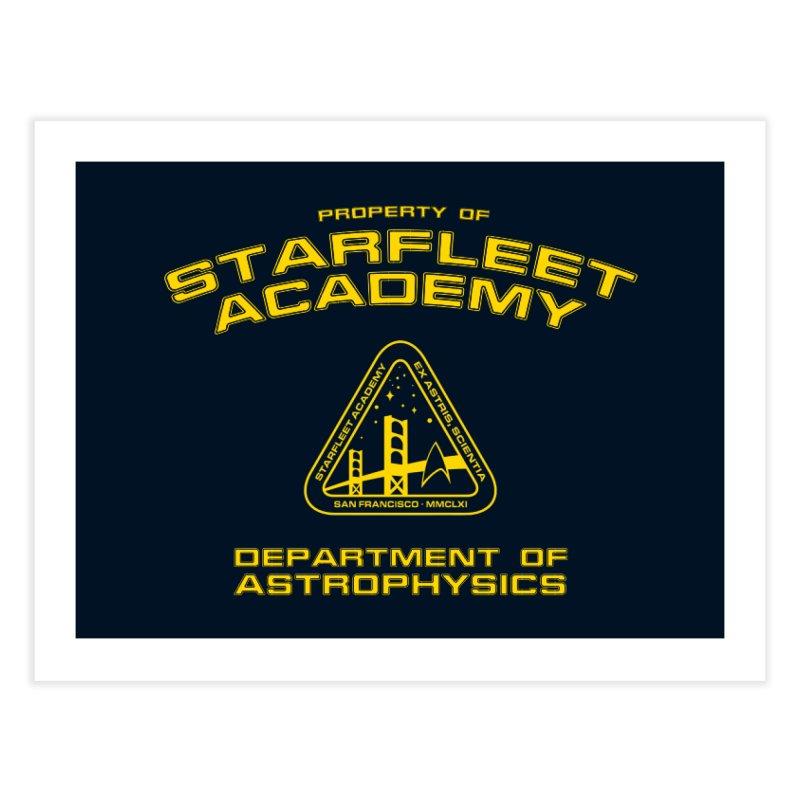 Starfleet Academy - Department of Astrophysics Home Fine Art Print by khurst's Artist Shop