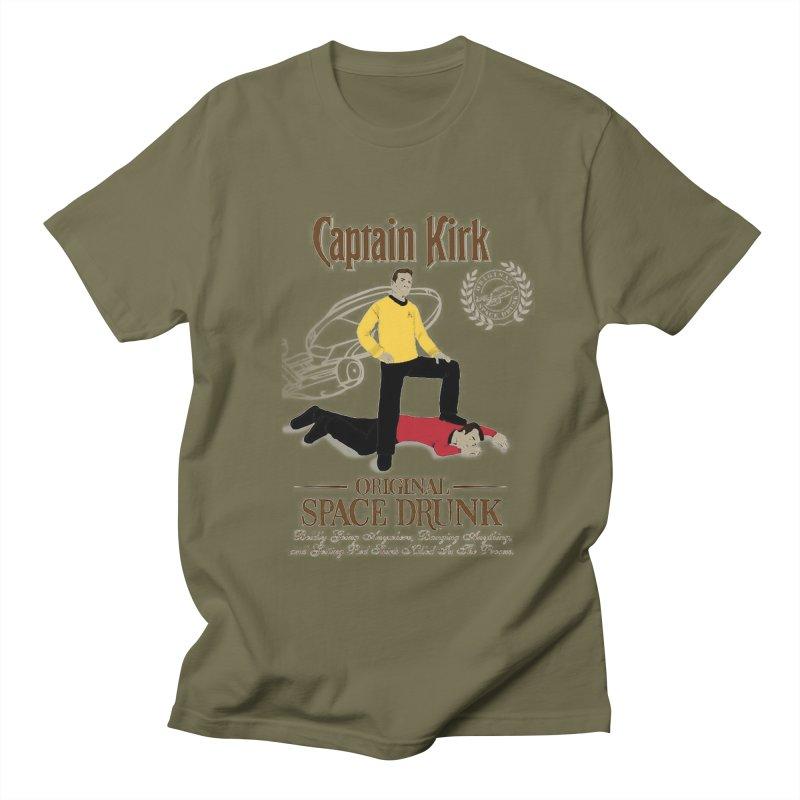 Captain Kirk - Original Space Drunk Men's T-shirt by khurst's Artist Shop