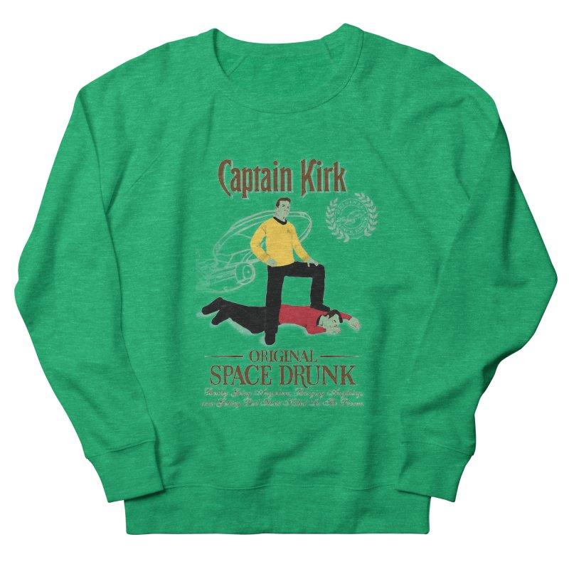 Captain Kirk - Original Space Drunk Women's Sweatshirt by khurst's Artist Shop