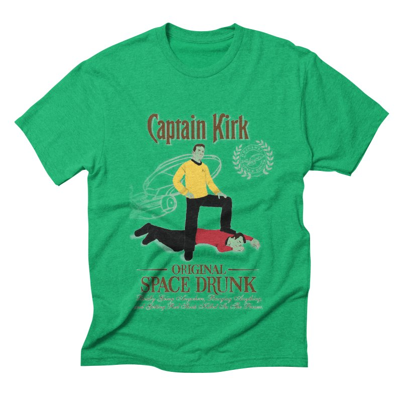 Captain Kirk - Original Space Drunk Men's Triblend T-shirt by khurst's Artist Shop