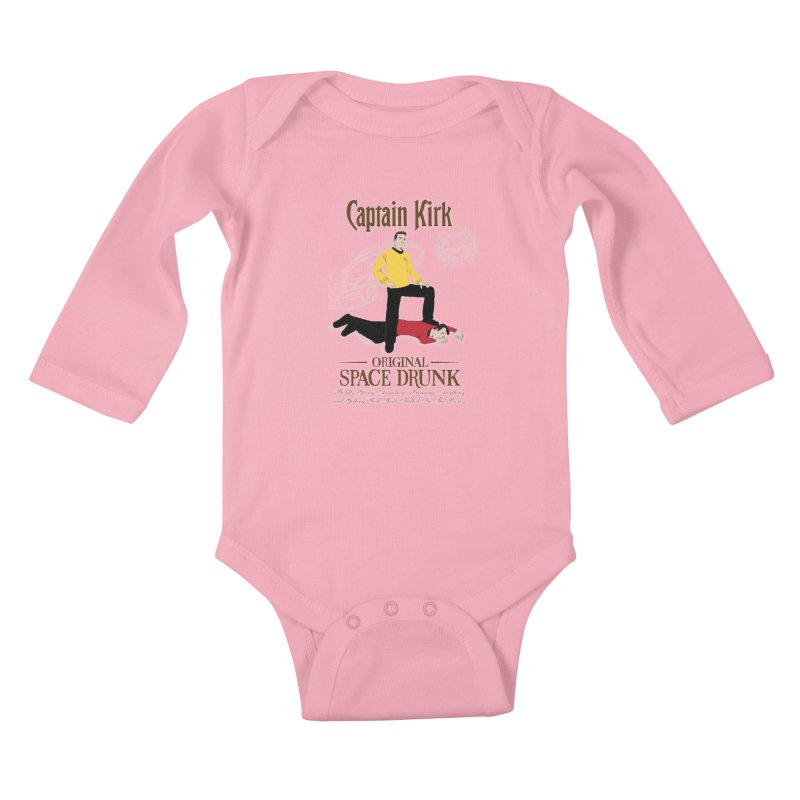 Captain Kirk - Original Space Drunk Kids Baby Longsleeve Bodysuit by khurst's Artist Shop