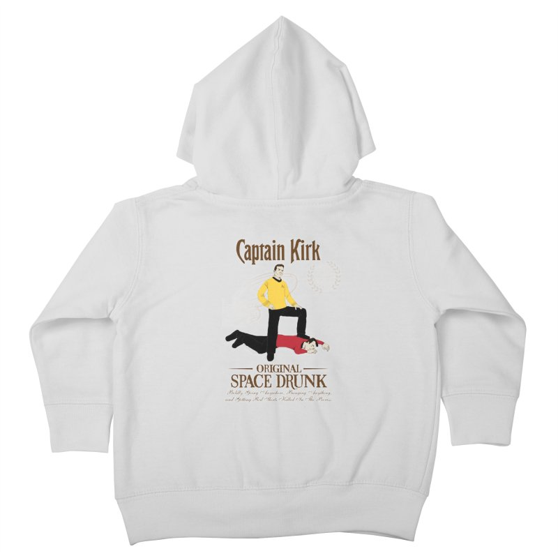 Captain Kirk - Original Space Drunk Kids Toddler Zip-Up Hoody by khurst's Artist Shop