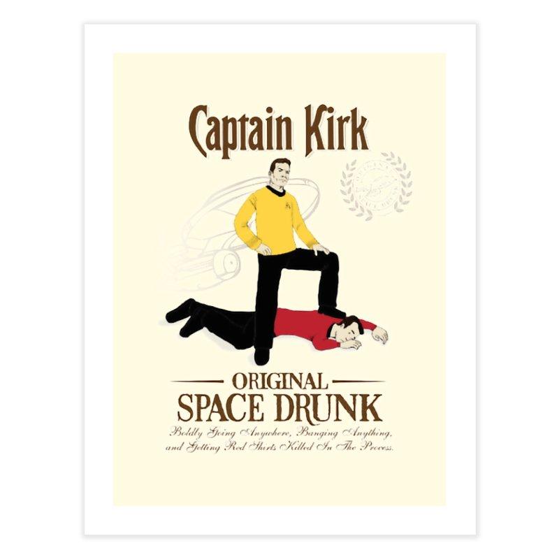 Captain Kirk - Original Space Drunk Home Fine Art Print by khurst's Artist Shop